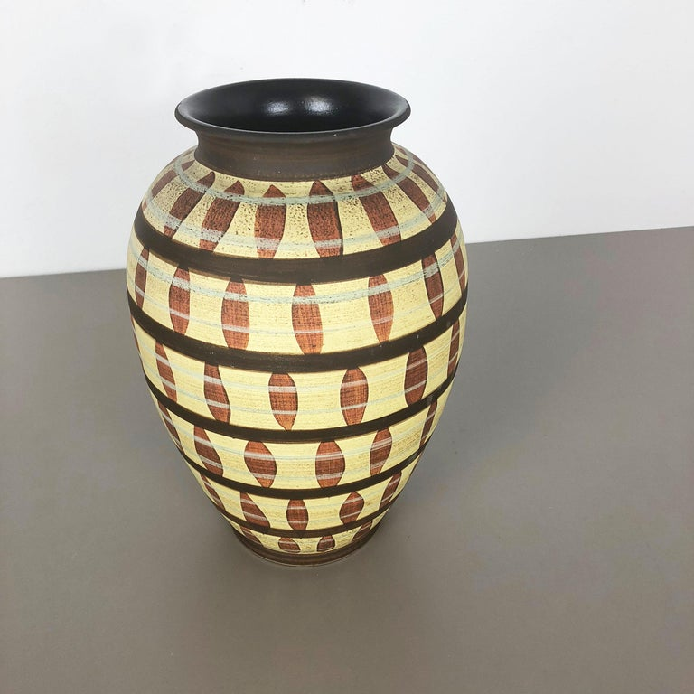 Mid-Century Modern Vintage Abstract Ceramic Pottery Vase by Simon Peter Gerz, Germany, 1950s For Sale