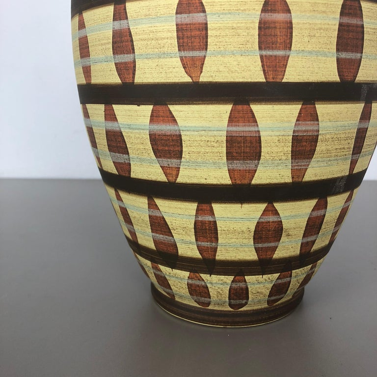20th Century Vintage Abstract Ceramic Pottery Vase by Simon Peter Gerz, Germany, 1950s For Sale