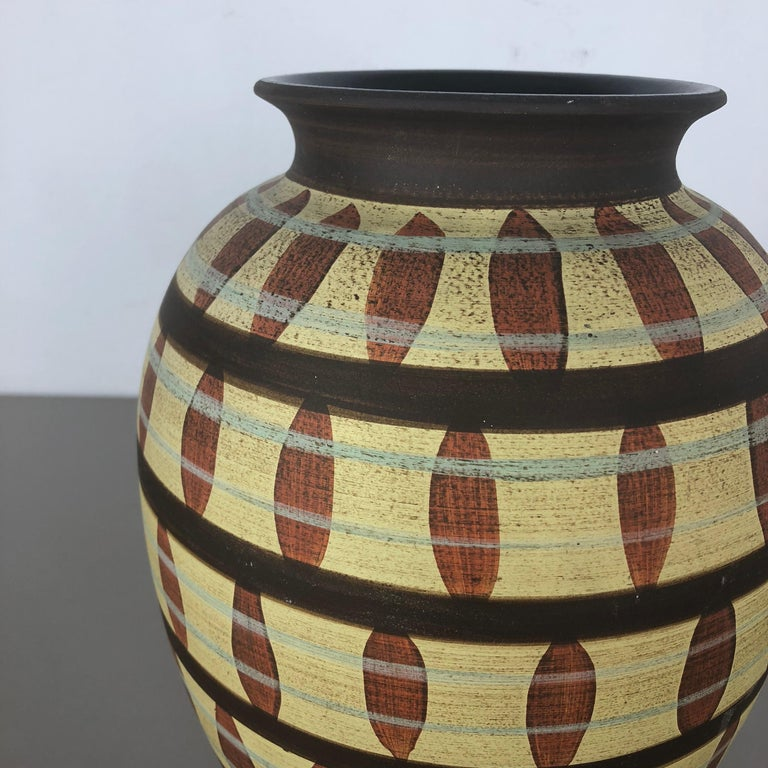 Vintage Abstract Ceramic Pottery Vase by Simon Peter Gerz, Germany, 1950s For Sale 1