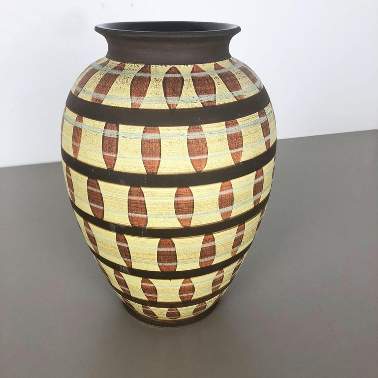 Vintage Abstract Ceramic Pottery Vase by Simon Peter Gerz, Germany, 1950s For Sale 3