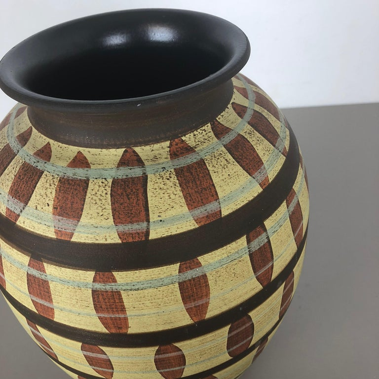 Vintage Abstract Ceramic Pottery Vase by Simon Peter Gerz, Germany, 1950s For Sale 4