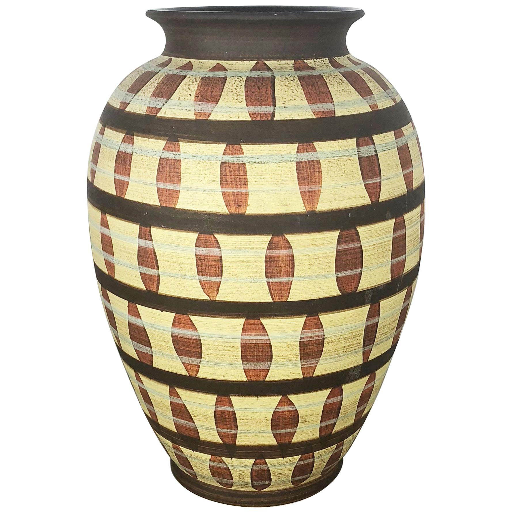Vintage Abstract Ceramic Pottery Vase by Simon Peter Gerz, Germany, 1950s