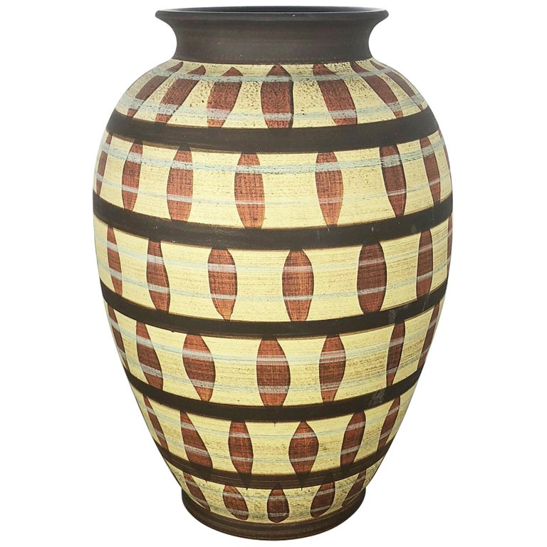 Vintage Abstract Ceramic Pottery Vase by Simon Peter Gerz, Germany, 1950s For Sale
