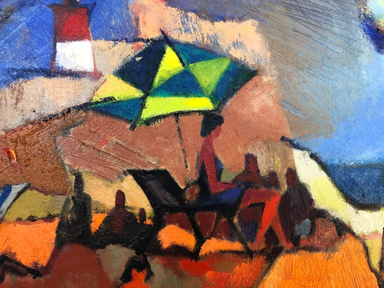 Modern Vintage Abstract Maurice Freed Oil Painting For Sale