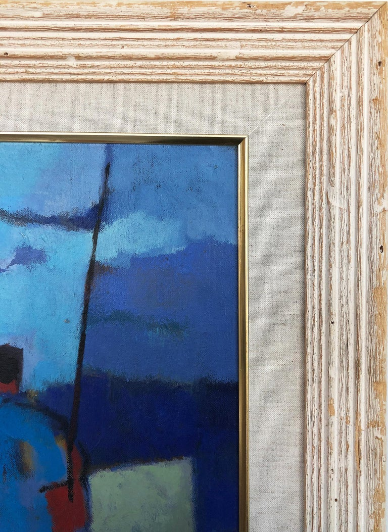 20th Century Vintage Abstract Maurice Freed Oil Painting For Sale