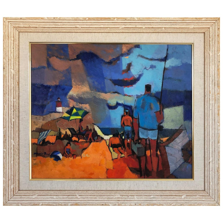 Vintage Abstract Maurice Freed Oil Painting For Sale