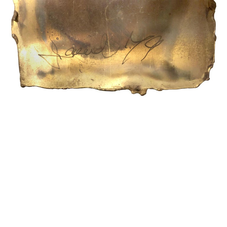 Vintage Abstract Mixed Metal Wall Sculpture In Good Condition For Sale In New York, NY