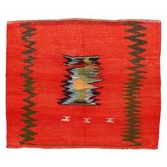 Vintage Abstract Modernist Tribal Sofreh Kilim Rug