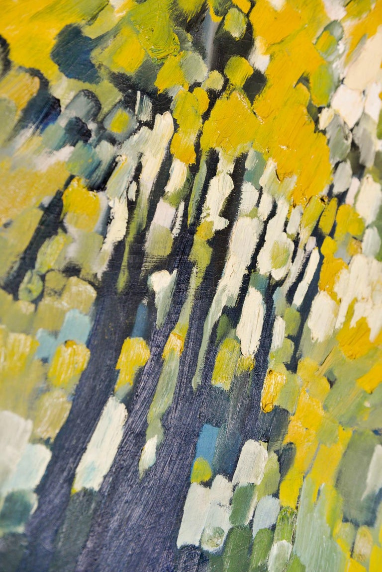 Vintage Abstract Oil on Canvas by John Nelson Gallery Pasadena, CA, 1979 In Good Condition For Sale In Costa Mesa, CA