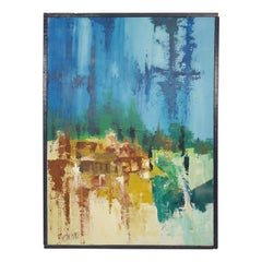 Vintage Abstract Painting Signed by Artist