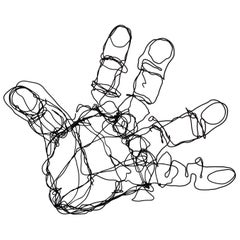 Vintage Abstract Wire Hand Sculpture