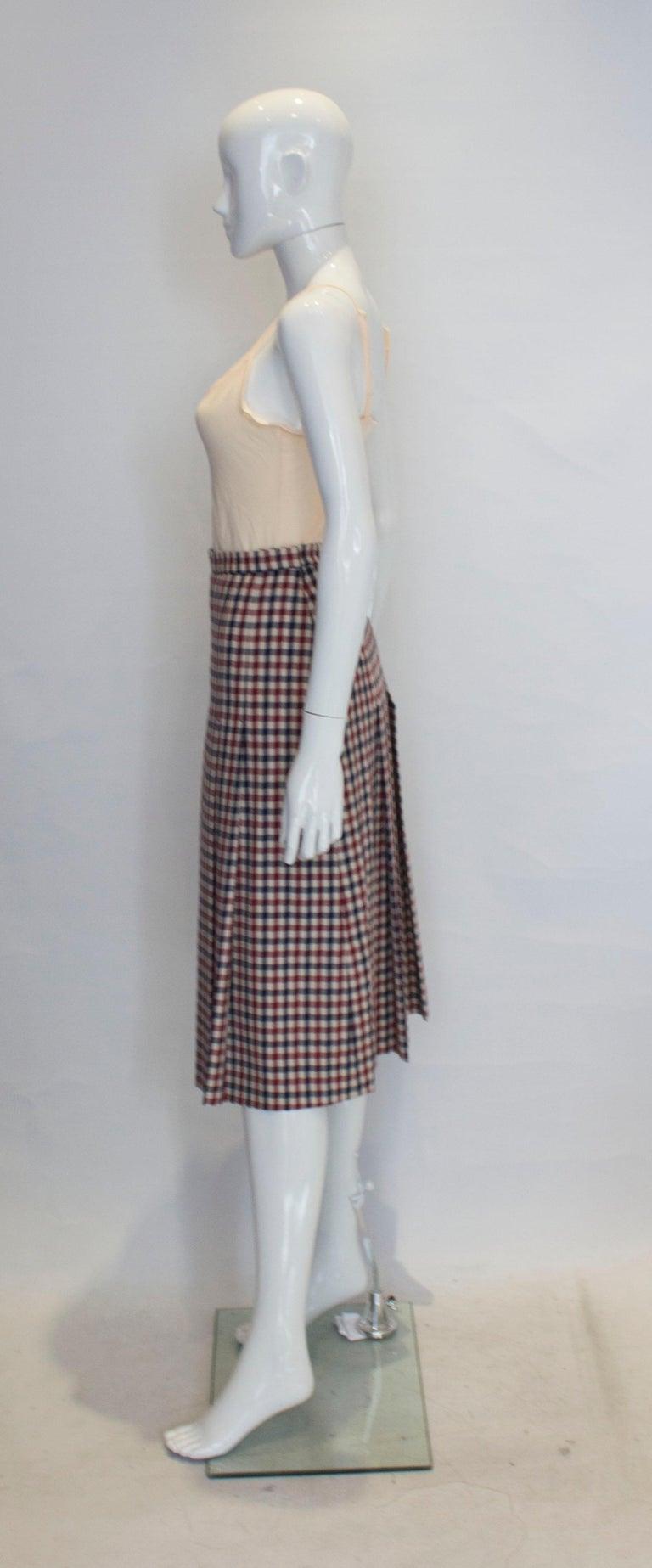 Women's Vintage Acquascutum Check Skirt For Sale