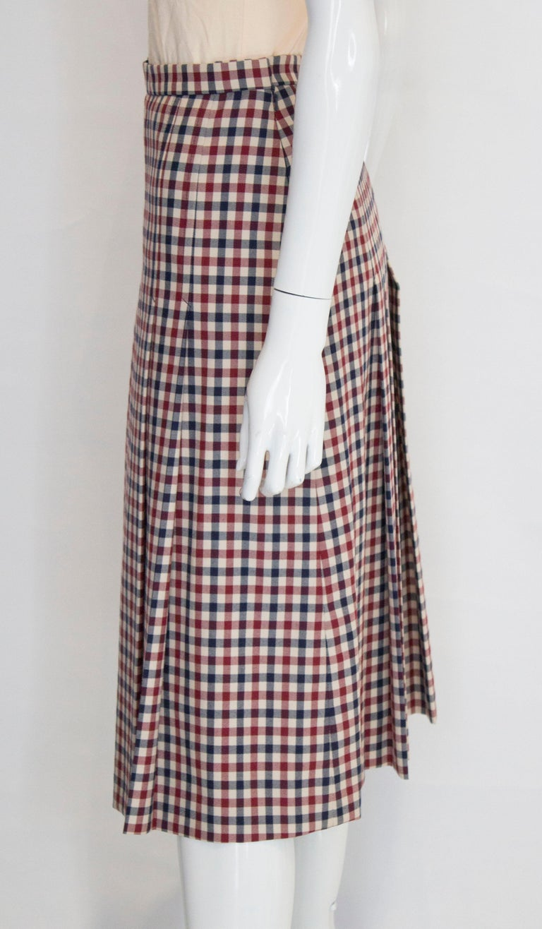 Vintage Acquascutum Check Skirt For Sale 1
