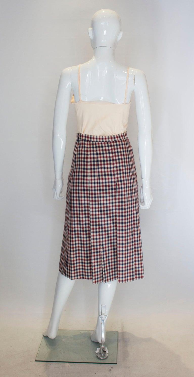 Vintage Acquascutum Check Skirt For Sale 2