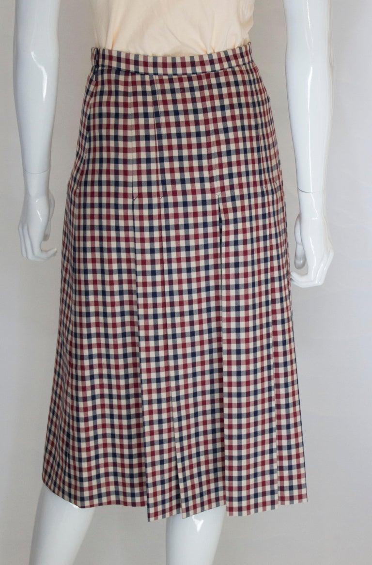Vintage Acquascutum Check Skirt For Sale 3