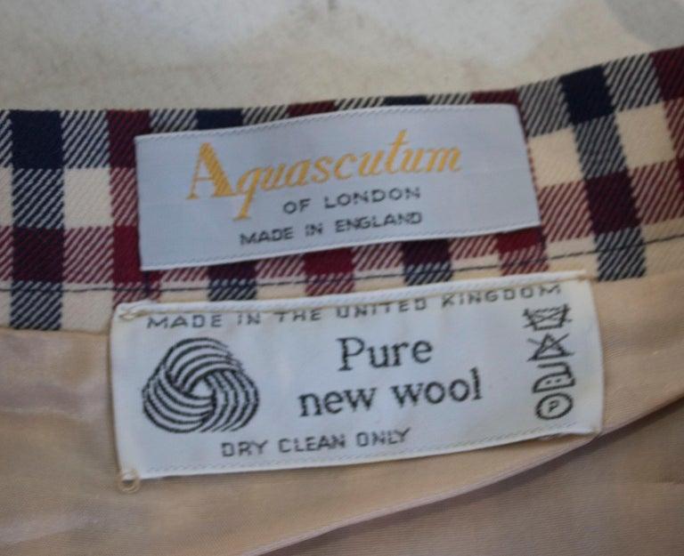 Vintage Acquascutum Check Skirt For Sale 4