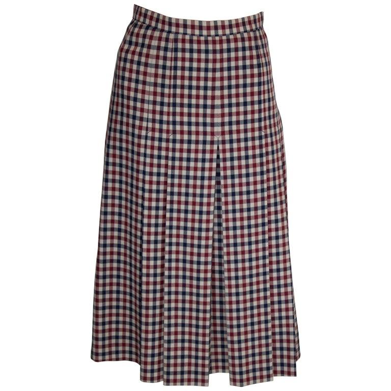Vintage Acquascutum Check Skirt For Sale
