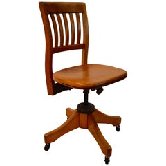 Vintage Adjustable Office Chair by W.H.Gunstock Chair Company