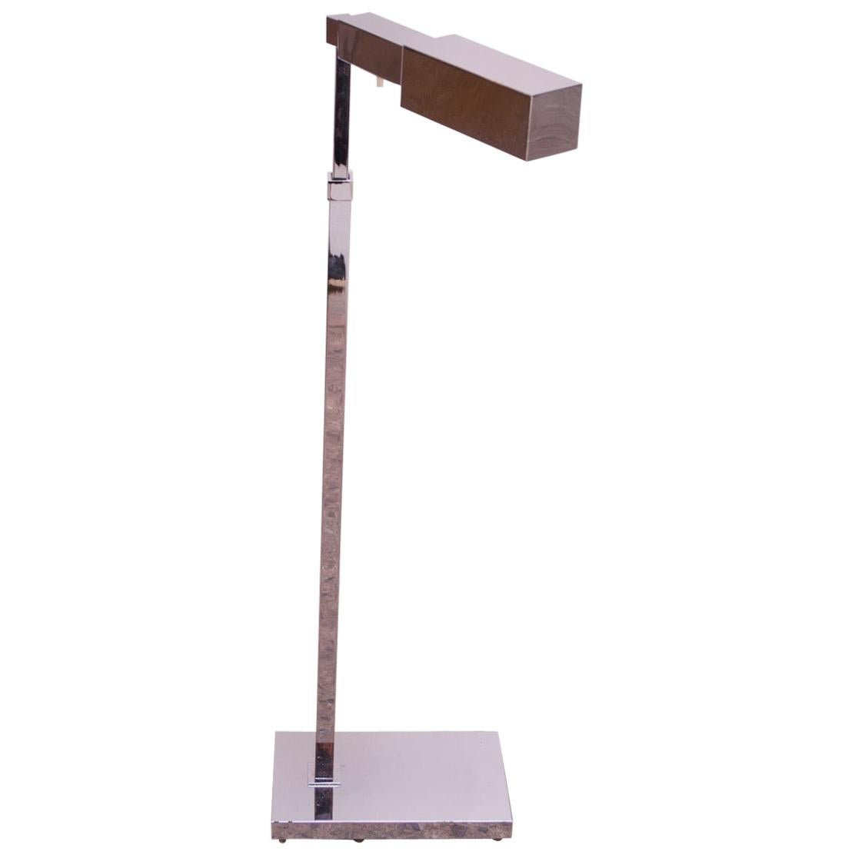 Vintage Adjustable Rectilinear Chrome Floor Lamp by Casella Lighting