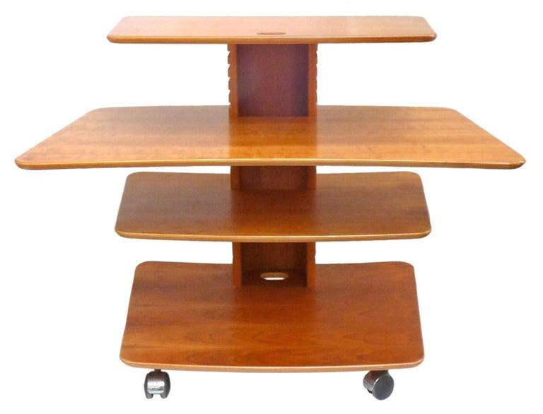 Mid-Century Modern Vintage Adjustable Rolling Table or Workstation by Aksel Kjersgaard for Levenger For Sale