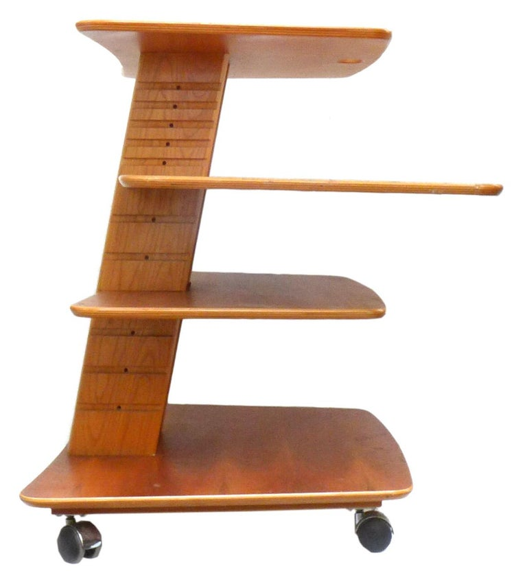 Danish Vintage Adjustable Rolling Table or Workstation by Aksel Kjersgaard for Levenger For Sale