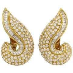 Vintage Adler Diamond Yellow Gold Earrings