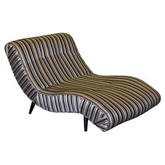 Vintage Adrian Pearsall Scoop Wave Chaise Lounge Chair