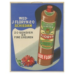 Vintage Advertisement Poster of 'Floryn Dutch Gin'.