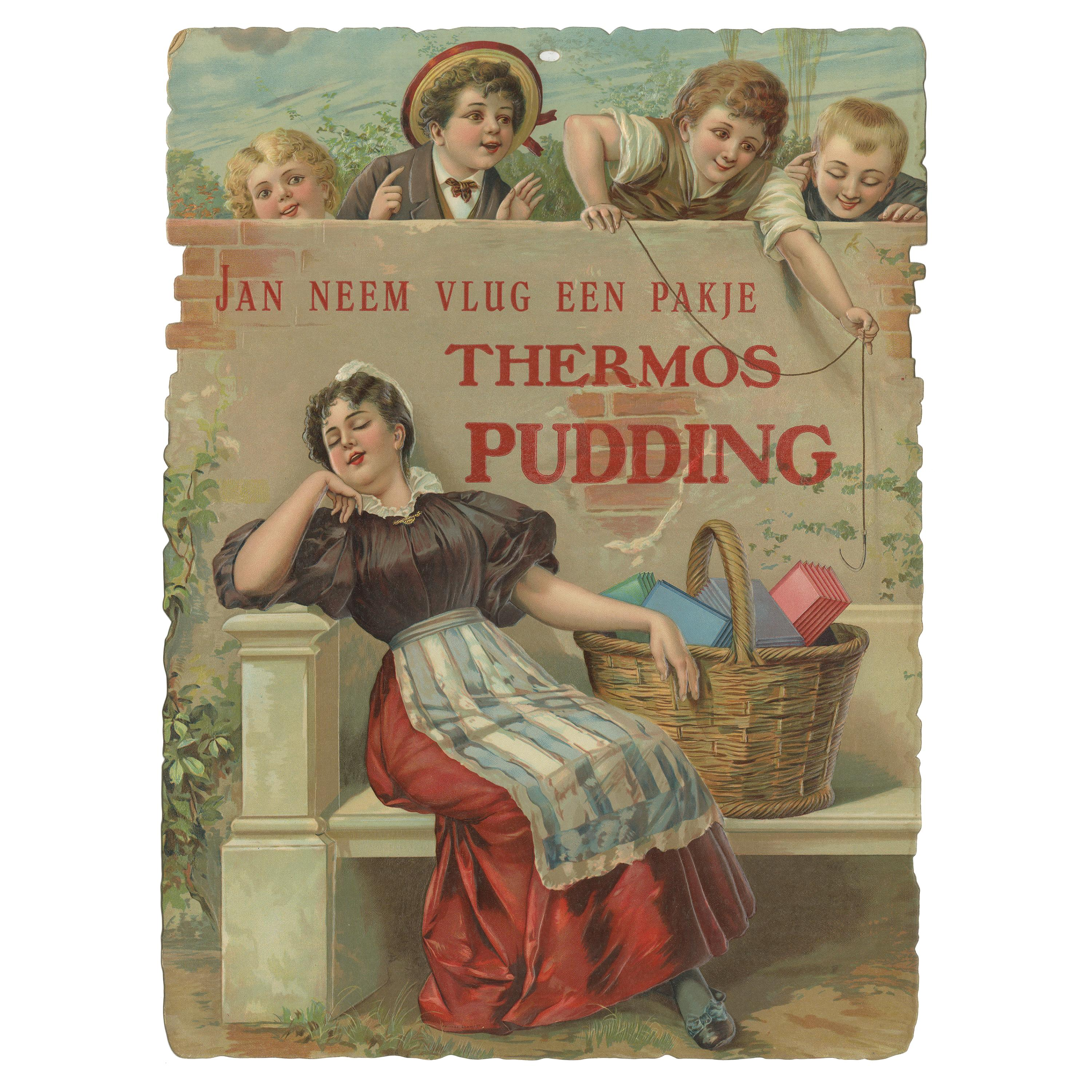 Vintage Advertisement Poster of 'Thermos Pudding' 'c.1950'