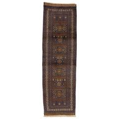 Vintage Afghan Balouchi War Hallway Runner with Tribal Nomadic Style
