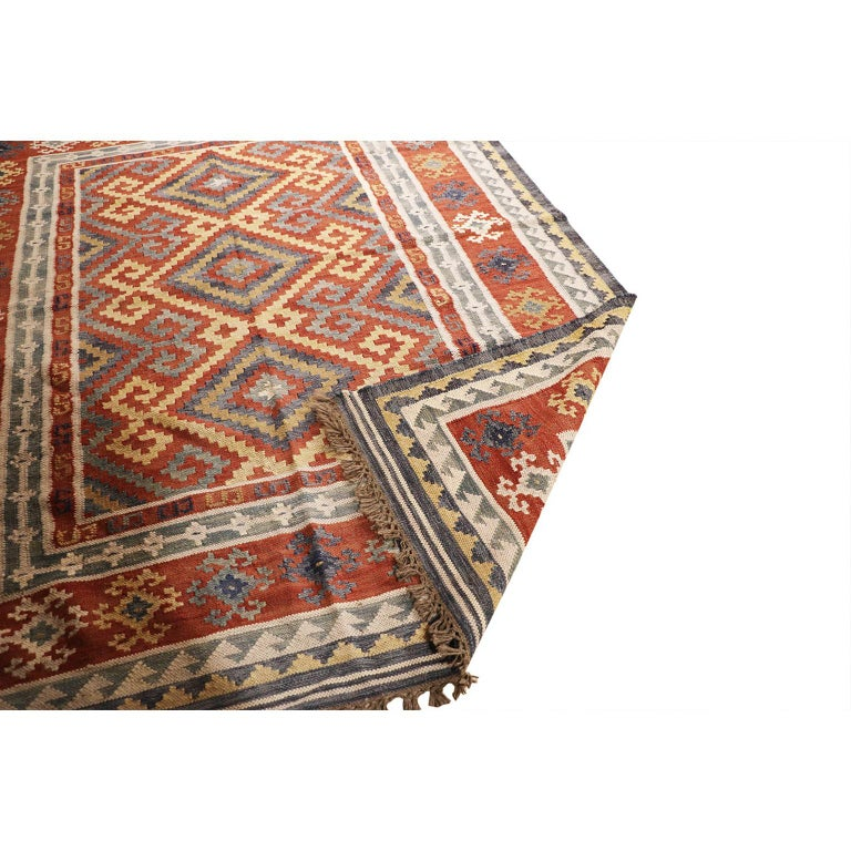 Hand-Knotted Vintage Afghan Kelim Rug, 20th Century For Sale
