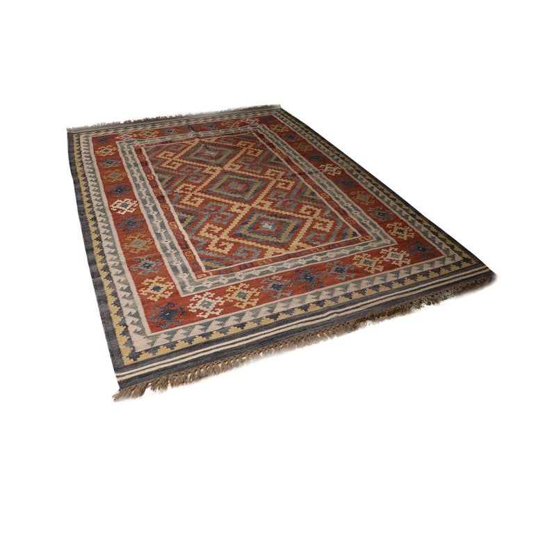 Vintage Afghan Kelim Rug, 20th Century In Good Condition For Sale In Baltimore, MD