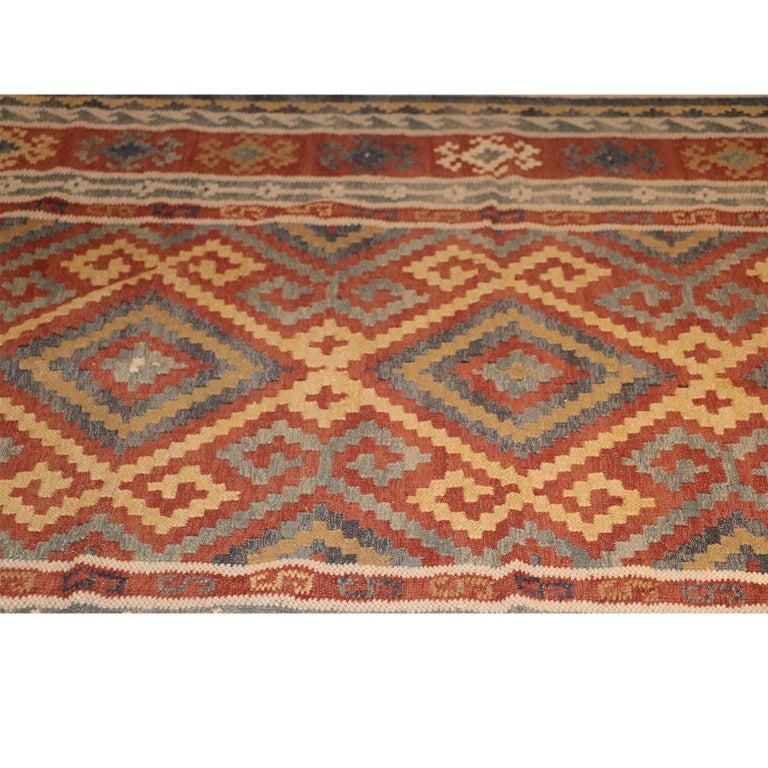 Late 20th Century Vintage Afghan Kelim Rug, 20th Century For Sale