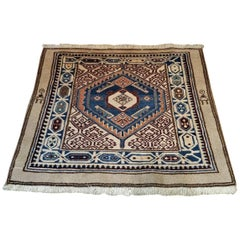 Vintage Afghan Tribal Square Prayer Rug