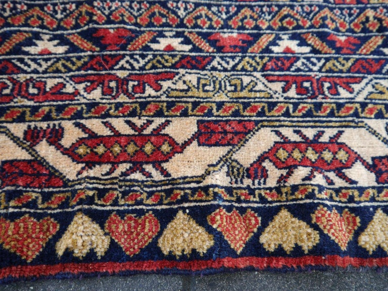 Vintage Afghan War Rug with Lions Elephants and Warriors 6 x 4 ft For Sale 11