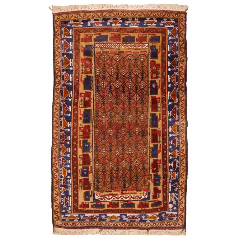 Antique Afghan Rugs: Vintage Afghan War Rug With Tanks And Helicopters For Sale