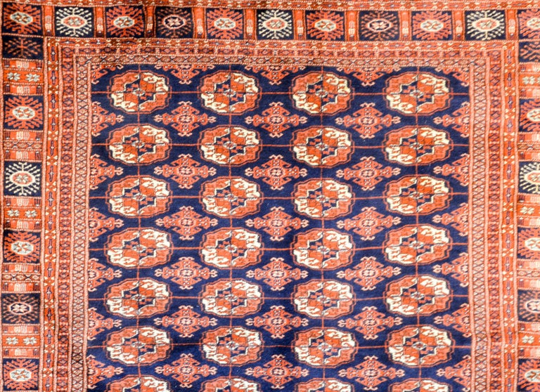 Vintage Afghani Bokhara Rug In Good Condition For Sale In Chicago, IL
