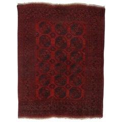 Vintage Afghani Ersari Bukhara Turkmen Rug