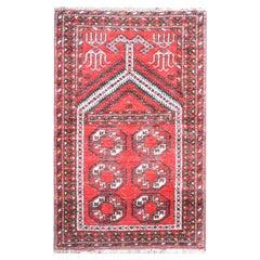 Vintage Afghani Prayer Rug