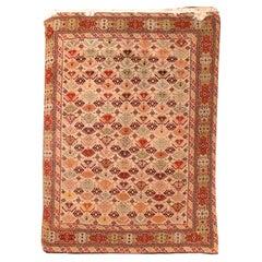 Vintage Afghani Wool Rug, Hand Knotted, circa 1950s