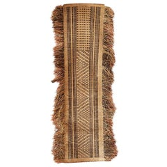 Vintage African 1880s Raffia Currency Cloth by the Tetela People of DR Congo