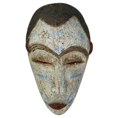 Vintage African 1940s Wooden Baoule Mask
