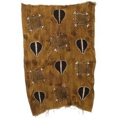 Vintage African Art Handwoven KUBA Cloth Ceremonial Blanket Wall Tapestry Congo