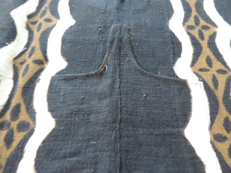 Tribal Vintage African Black and Brown Mudcloth Textile For Sale