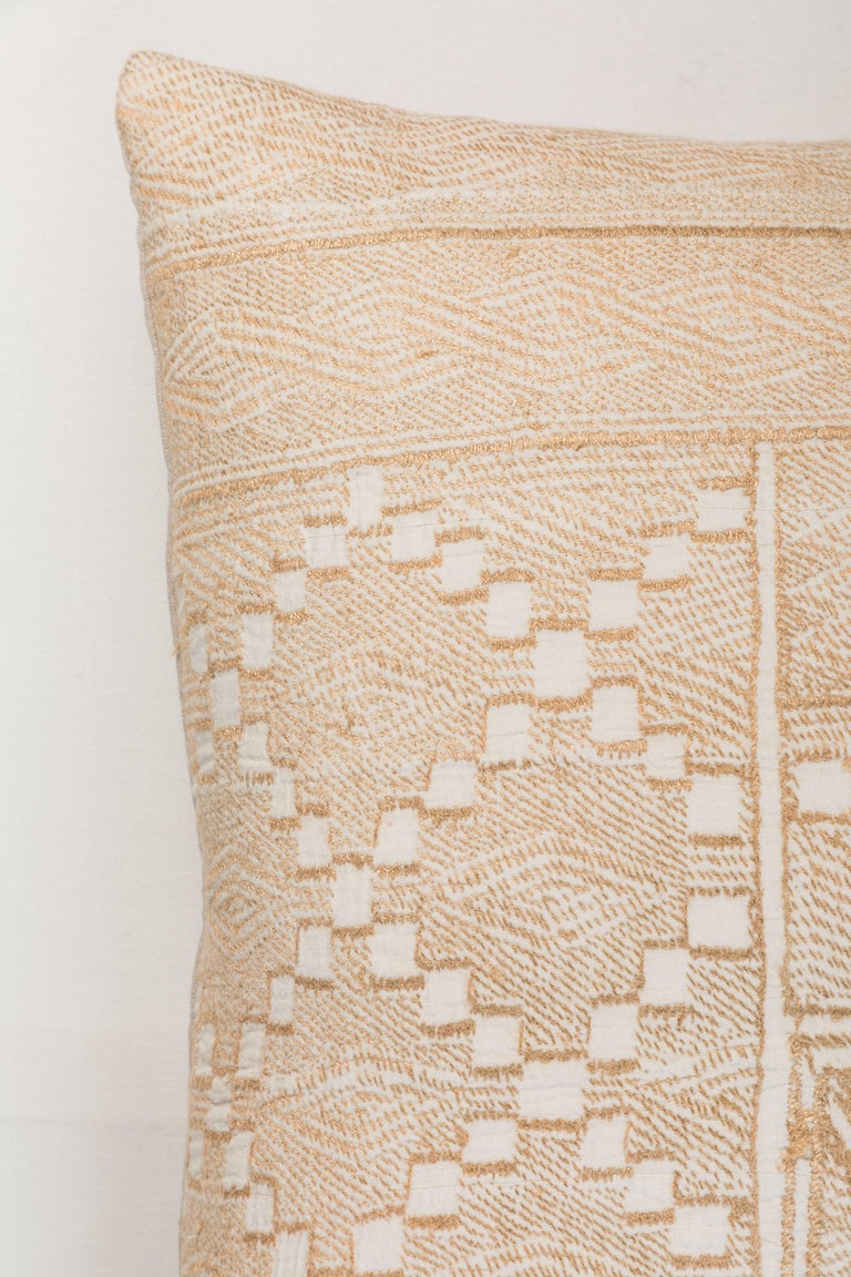 Nigerian Vintage African Embroidery Pillow For Sale