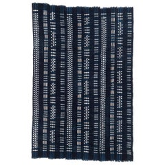 Vintage African Indigo Dyed Cotton Textile