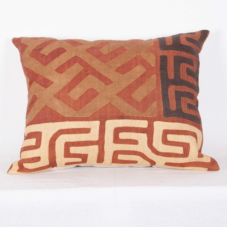 Vintage African Kuba Cloth Pillow Cases, Mid-20th Century For Sale 3