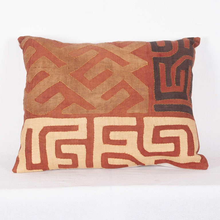Vintage African Kuba Cloth Pillow Cases, Mid-20th Century For Sale 4