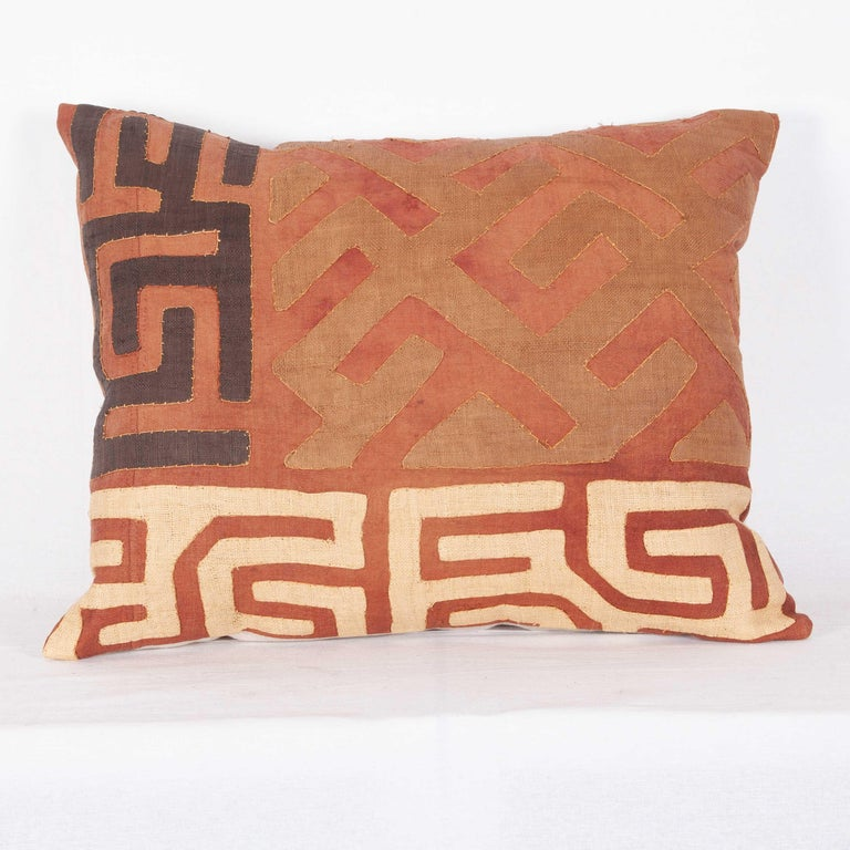Vintage African Kuba Cloth Pillow Cases, Mid-20th Century For Sale 1