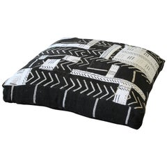 Vintage African Mud Cloth Floor Pillow Pet Bed by Full Bloom Cottage